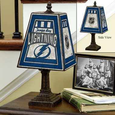 Tampa Bay Lightning Small Art Glass Lamp
