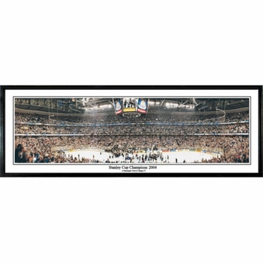 Tampa Bay Lightning Stanley Cup Champions 2004 Framed Panoramic Print