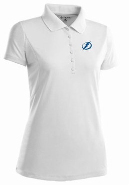 Tampa Bay Lightning Womens Pique Xtra Lite Polo Shirt (Color: White)