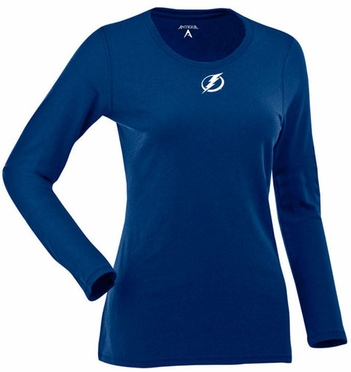 Tampa Bay Lightning Womens Relax Long Sleeve Tee (Team Color: Royal)
