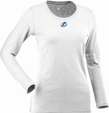 Tampa Bay Lightning Womens Relax Long Sleeve Tee (Color: White)