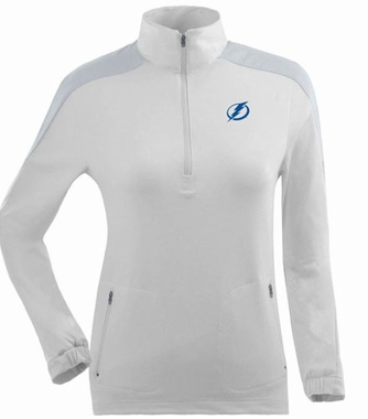 Tampa Bay Lightning Womens Succeed 1/4 Zip Performance Pullover (Color: White)