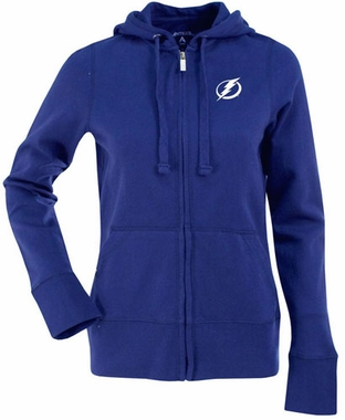 Tampa Bay Lightning Womens Zip Front Hoody Sweatshirt (Color: Royal)