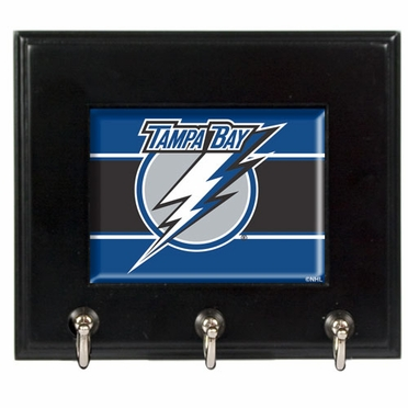 Tampa Bay Lightning Wooden Keyhook Rack