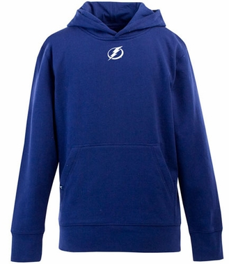 Tampa Bay Lightning YOUTH Boys Signature Hooded Sweatshirt (Team Color: Royal)