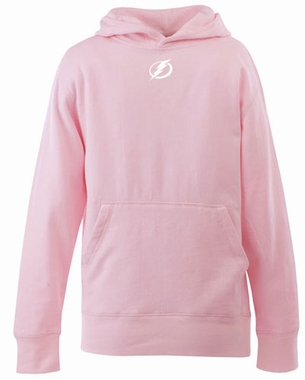 Tampa Bay Lightning YOUTH Girls Signature Hooded Sweatshirt (Color: Pink)