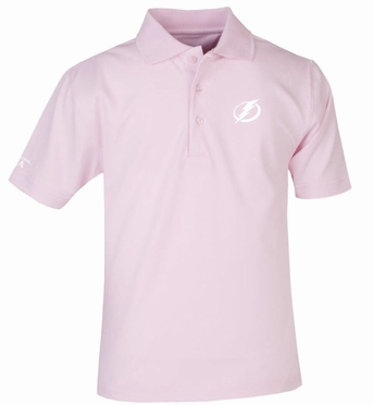 Tampa Bay Lightning YOUTH Unisex Pique Polo Shirt (Color: Pink)