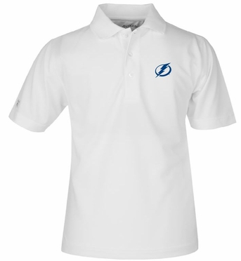 Tampa Bay Lightning YOUTH Unisex Pique Polo Shirt (Color: White)