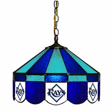 Tampa Bay Rays 16 Inch Diameter Stained Glass Pub Light