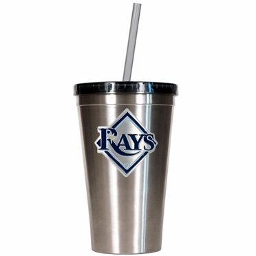 Tampa Bay Rays 16oz Stainless Steel Insulated Tumbler with Straw