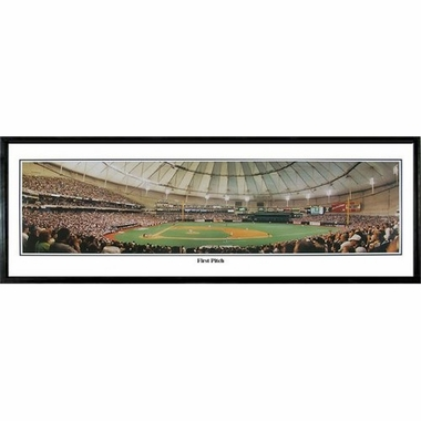 Tampa Bay Rays 1st Pitch Framed Panoramic Print