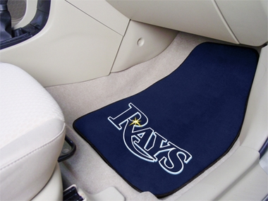 Tampa Bay Rays 2 Piece Car Mats