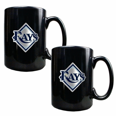 Tampa Bay Rays 2 Piece Coffee Mug Set