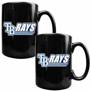 Tampa Bay Rays 2 Piece Coffee Mug Set (Wordmark)