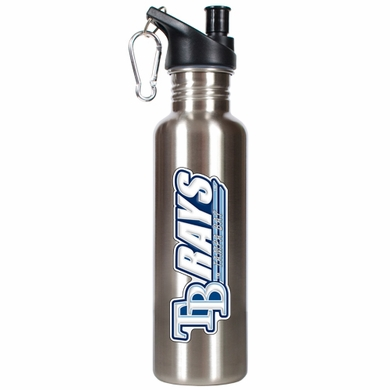 Tampa Bay Rays 26oz Stainless Steel Water Bottle (Silver)