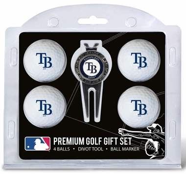 Tampa Bay Rays 4 Ball and Divot Tool Set