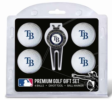 Tampa Bay Rays 4 Ball and Tool Gift Set