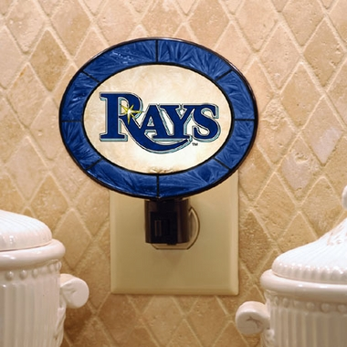 Tampa Bay Rays Art Glass Night Light