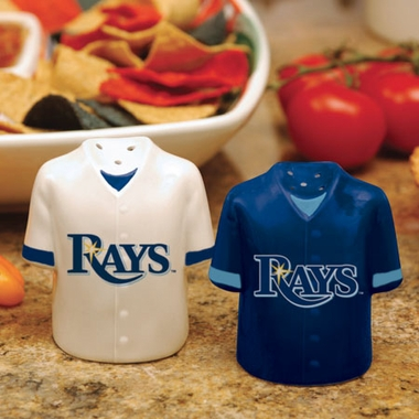 Tampa Bay Rays Ceramic Jersey Salt and Pepper Shakers