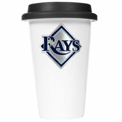 Tampa Bay Rays Ceramic Travel Cup (Black Lid)