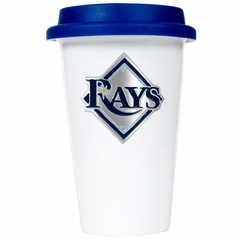 Tampa Bay Rays Ceramic Travel Cup (Team Color Lid)