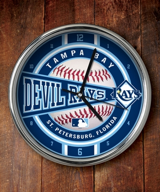 Tampa Bay Rays Chrome Clock