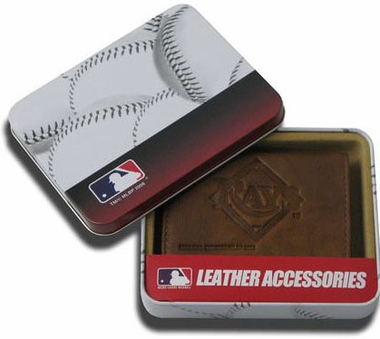 Tampa Bay Rays Embossed Leather Trifold Wallet