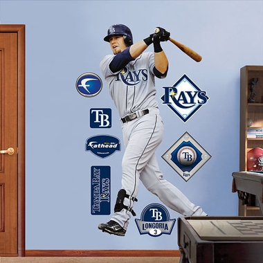 Tampa Bay Rays Evan Longoria Fathead Wall Graphic