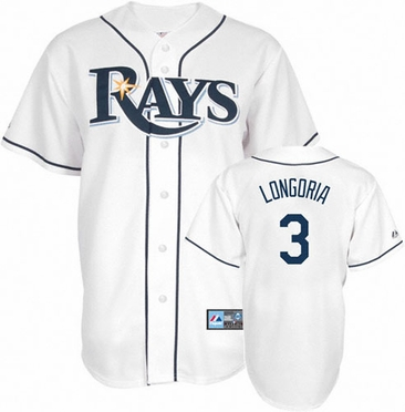 Tampa Bay Rays Evan Longoria YOUTH Replica Player Jersey
