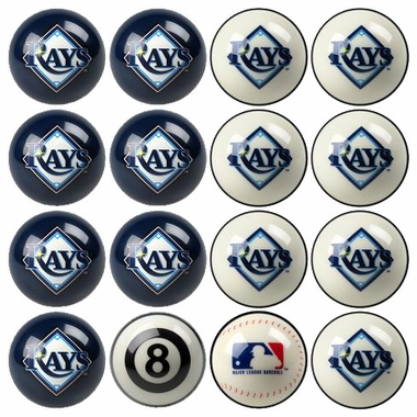 Tampa Bay Rays Home and Away Complete Billiard Ball Set