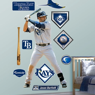 Tampa Bay Rays Jason Bartlett Fathead Wall Graphic