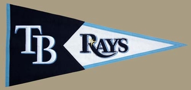 Tampa Bay Rays Large Wool Pennant