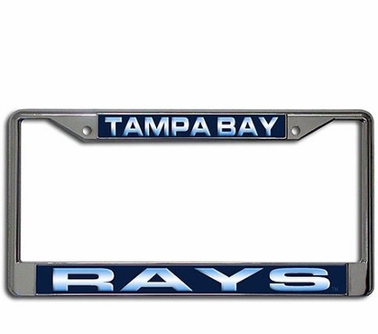 Tampa Bay Rays Laser Etched Chrome License Plate Frame