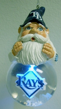 Tampa Bay Rays Light Up Gnome Snow Globe Ornament