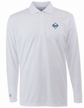 Tampa Bay Rays Mens Long Sleeve Polo Shirt (Color: White)