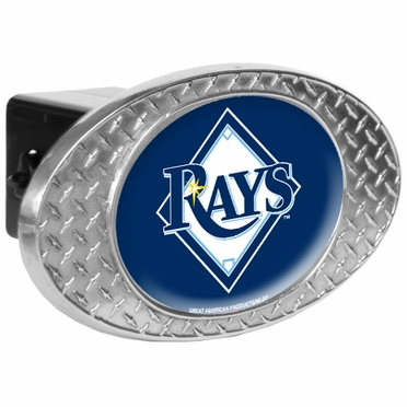 Tampa Bay Rays Metal Diamond Plate Trailer Hitch Cover