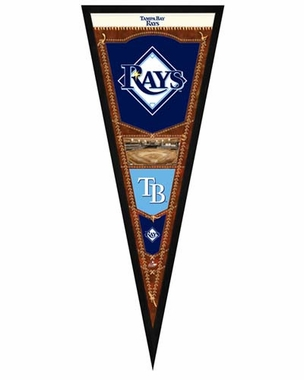 "Tampa Bay Rays Pennant Frame - 13""x33"" (No Glass)"