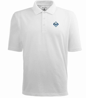 Tampa Bay Rays Mens Pique Xtra Lite Polo Shirt (Color: White)