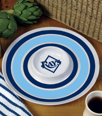 Tampa Bay Rays Plastic Chip and Dip Plate