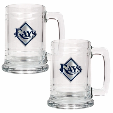Tampa Bay Rays Set of 2 15 oz. Tankards