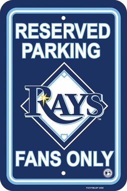 Tampa Bay Rays Plastic Parking Sign (P)