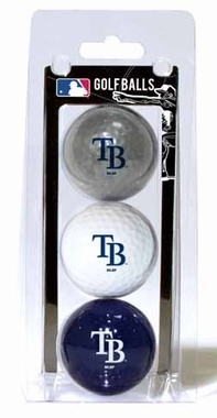 Tampa Bay Rays Set of 3 Multicolor Golf Balls
