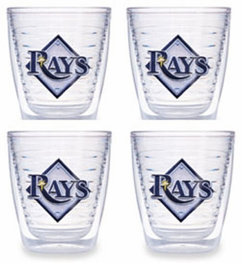 Tampa Bay Rays Set of FOUR 12 oz. Tervis Tumblers
