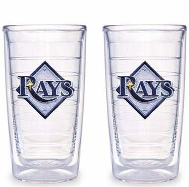 Tampa Bay Rays Set of TWO 16 oz. Tervis Tumblers
