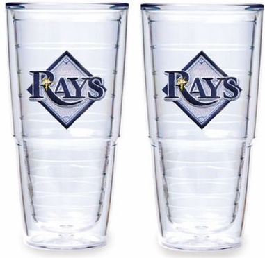 "Tampa Bay Rays Set of TWO 24 oz. ""Big T"" Tervis Tumblers"