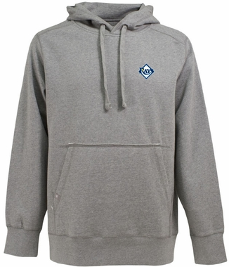 Tampa Bay Rays Mens Signature Hooded Sweatshirt (Color: Gray)