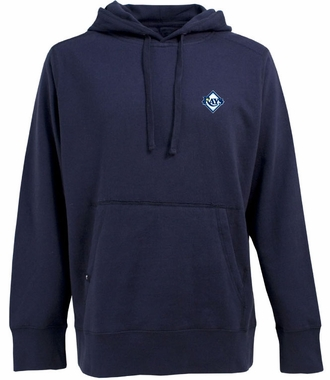 Tampa Bay Rays Mens Signature Hooded Sweatshirt (Team Color: Navy)