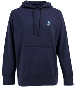Tampa Bay Rays Mens Signature Hooded Sweatshirt (Team Color: Navy) - Small