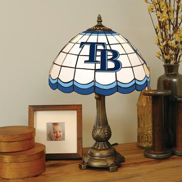 Tampa Bay Rays Stained Glass Table Lamp