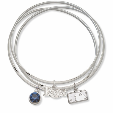 Tampa Bay Rays Triple Bangle Bracelet